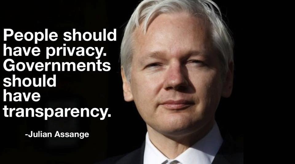 Julian Assange quote.